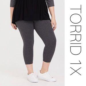 Torrid Grey Capri Leggings 1X New